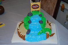 Survivor Cake. For a Survivor tv show themed birthday party