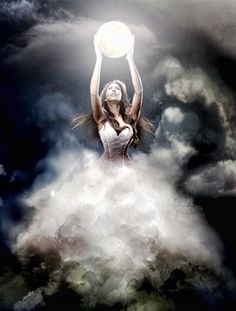 ★★★★ Selene Greek goddess of the Moon. In accordance with the poet Hesiod, Selene is the daughter of Hyperion and Theia, sibling of Helios, the Sun and Eos the Dawn.    Some other resources claim she is the child of Pallas and Euryphaessa.