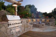 Built In Stainless Grill  Outdoor Kitchen  Michelle Derviss Landscape Design  Novato, CA