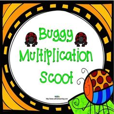 Buggy Scoot is a fun and exciting game that gets all of your students moving. It can be used as a preview to see what your students already know, as a review, or as an assessment after teaching multiplication facts.$  #multiplication#math#scoot game#teaching ideas#TPT#education