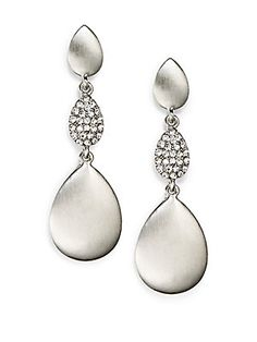 Sparkle Drop Earrings/Silver