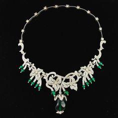 Extraordinary Vintage Kramer Crown Jewels Necklace