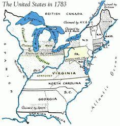 U.S. Map in 1783