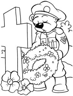 Remembrance Day Coloring Pages On Pinterest