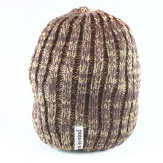 """BEANIE - """"THICK CABLE"""" BROWN"""