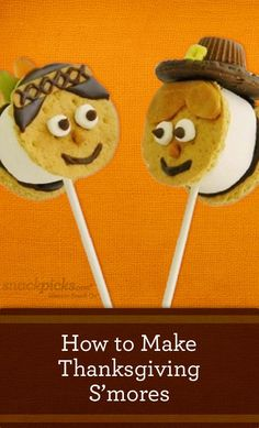 : Thanksgiving S'mores Pops