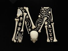 D'em Bones — Fantastic typeface made from assembled bones then photographed. (From Imprint)