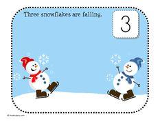 winter play dough math mats