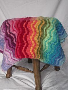 Rainbow Ripple Blanket - by RicePuddingBaby on madeit $100