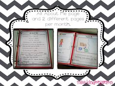 "Start an ""About Me"" journal and update by adding pages through out the year. Shows student growth and becomes a nice keepsake.   Miss Kindergarten: classroom ideas"