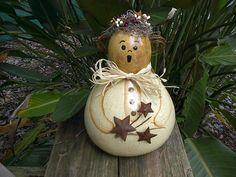 Gourd Art Angel Hand Painted Folk Art