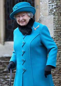 Queen Elizabeth leaves St. Mary Magdalene Church after attending the traditional Christmas Day church service on December 25, 2012, in Sandringham, England.