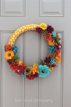 DIY Fall Flower Wreath