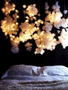 dreamy poofy #fairylights