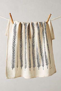 Fringed Feathers Dishtowel