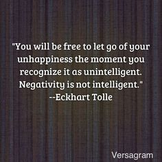 Eckhart Tolle Quote: Releasing unhappiness