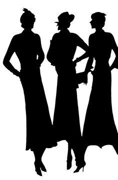 Vintage Ladies Silhouette