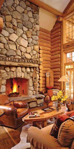 #rustic living room   Jill Rappaport