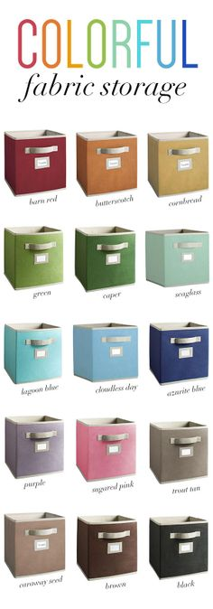 Look no more for the perfect storage. Martha Stewart Living fabric drawers come in a range of colorful options that it perfect for any room's decor.