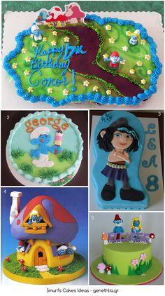 τουρτες με Στρουμφακια για παιδικα γενεθλια - Smurfs Cakes Ideas