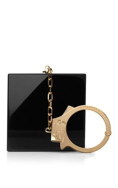 { Charlotte Olympia Handcuff Perspex Clutch }