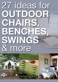 27 ideas for outdoor chairs, benches, swings & more