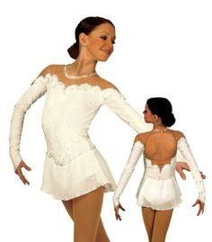 white figure skating dress