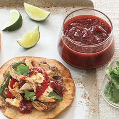 Spicy Cranberry-Chipotle Sauce | This spicy condiment is a great way to use leftover cranberry sauce. Try it with Turkey Tostadas for a festive spin on Thanksgiving dinner. | SouthernLiving.com