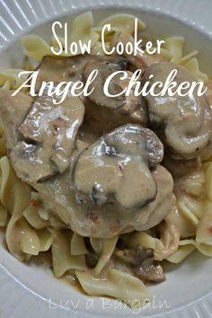 Slow Cooker Angel Chicken LuvaBargain.com