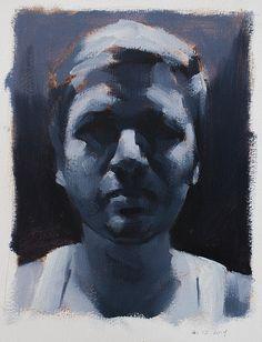 paint thought, art men, contemporari portrait, portrait paint