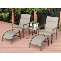 Walmart: Mainstays York 5-Piece Outdoor Leisure Set, Seats 2 $150