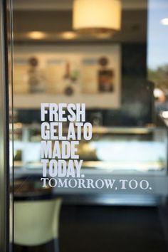 cafe designs, shop, door design cafe, glass signage, brand, fresh gelato, signage design, restaurant cafes design, doors signage