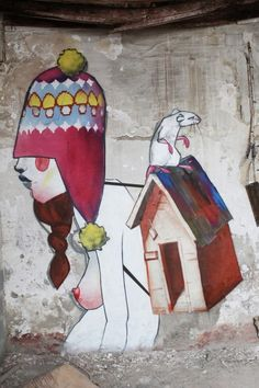 street art Spain graffiti fantasy by Cheko (Granada)