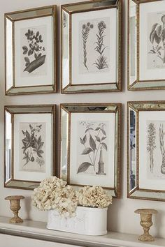 Just love these mirrored frames...