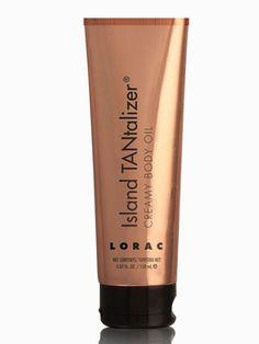 LORAC Island Tantalizer Creamy Body Oil: The hydrating body oil will deliver a subtle bronze shine and lingering summer scent or coconut and vanilla. $30; loraccosmetics.com