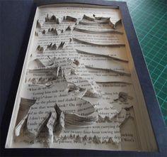 book art, sculpt book, alter book