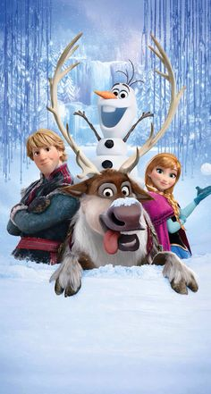 Frozen: Kristoff, Sven, Olaf, Anna