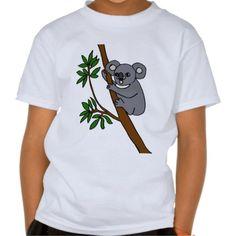 Cute Koala Bear T Shirts #koalas #bears #shirts #animals #cute #zazzle #petspower