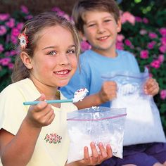 Homemade Ice Cream in a Bag Recipe - A fun activity for the kids