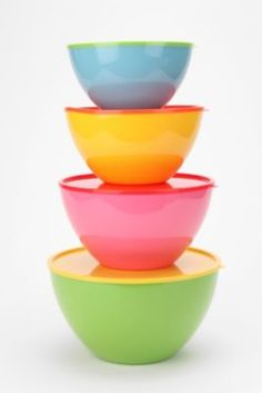 Two-Tone Mixing Bowl - Set Of 4