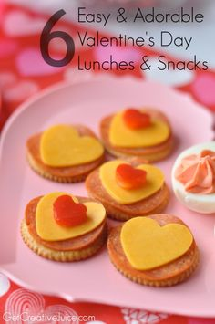 Valentine's Day lunches and snacks for kids