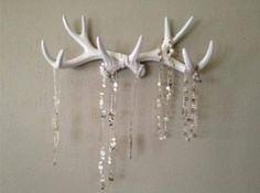 Antler jewelry holder- Love it!!!!