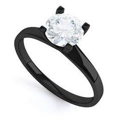 Black Engagment Ring