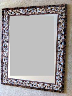 Mosaic Wall Mirror  Large Mosaic Mirror  by GreenStreetMosaics, $100.00