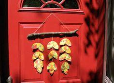 doors, fall leaves, activities for kids, thanksgiving activities, door hanger, fall crafts, hangers, craft ideas, kid craft