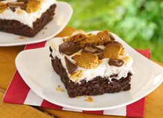 S'mores recipes brownie recipes, poke cakes, chocolate syrup, chocolate candies, smore browni, party recipes