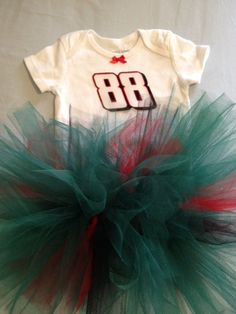 NASCAR Dale Earnhardt Jr 88 Tutu Cheer Dress Outfit for Baby Girls with FREE SHIPPING on Etsy, $24.95
