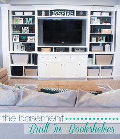 Basement Built In Entertainment Center