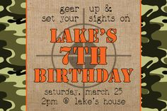 Camo Birthday Invitation