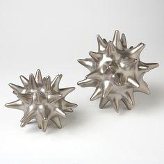 Matte Silver Urchin - $25